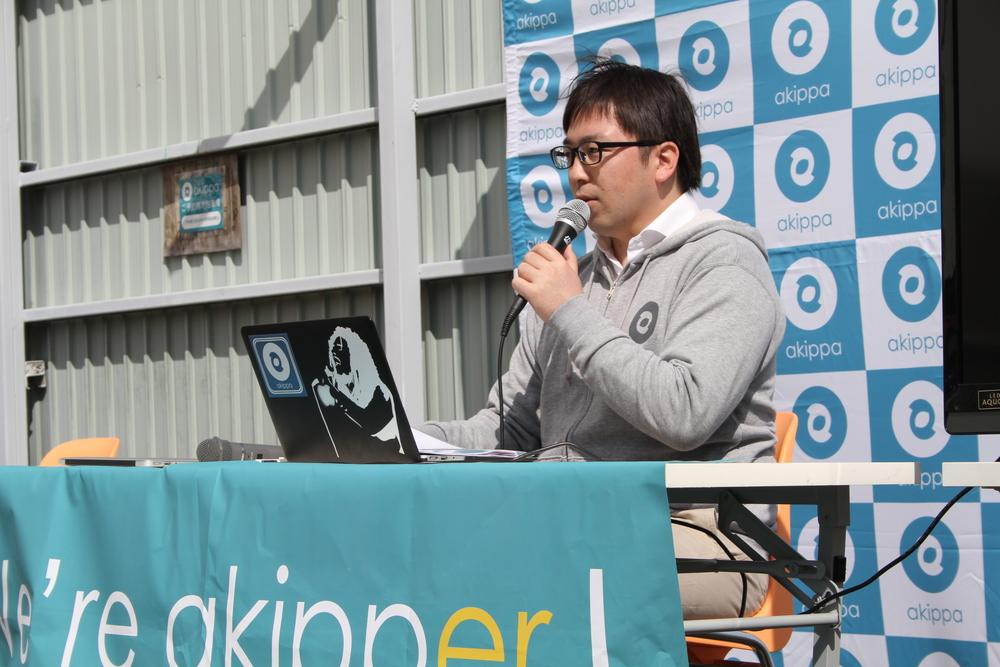 ↑akippa株式会社代表取締役社長 金谷 元気